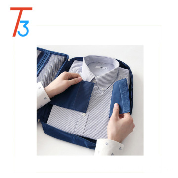 Double Zipper Mesh Suit Shirt Tie Travel Storage Organizer Case Handle and Bonus Drawstring Bag