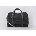 Water Resistant Black Nylon Luggage Travel Duffel Bag