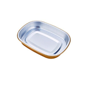 New Arrival China for Airline Catering Tableware Disposable coated smooth wall Aluminum Foil Pan wholesale export to France Supplier