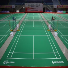 Wholesale Price for China Badminton Court Mat,PVC Badminton Court,BWF Approved Badminton Court Manufacturer Enlio BWF approved Vinyl badminton floor mat export to India Factories
