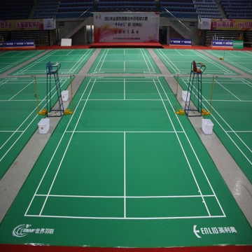 Enlio BWF approved Vinyl badminton floor mat