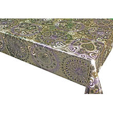 Double Face Emboss printed Gold Silver Tablecloth Overlays