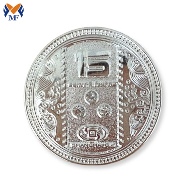 Wholesale button silver plating coin pin badge