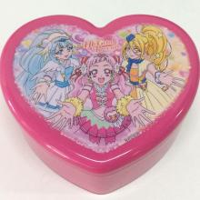 Plastic heart shaped jewelry box