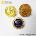 Custom 3D Engrave Metal Round Pin Badges