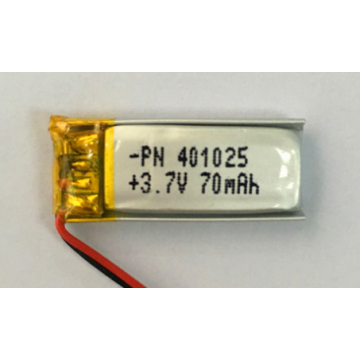 70mAh Lithium Polymer Battery for Bluetooth Watch (LP1X2T4)