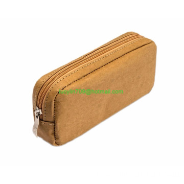 Kraft Paper Makeup Bags/Cosmetic Brown Handbag/Travel Brush Pouch Toiletry Kit Organizer