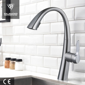 Hot Cold Water Brushed Nickel Kitchen Mixer Tap