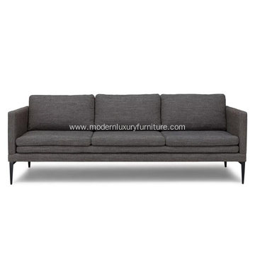 Triplo Meteorite Gray Fabric Sofa