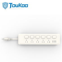 5 way American power strip with individual switches