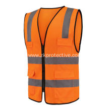 High visible EN471 multi-functional pockets reflective cloth