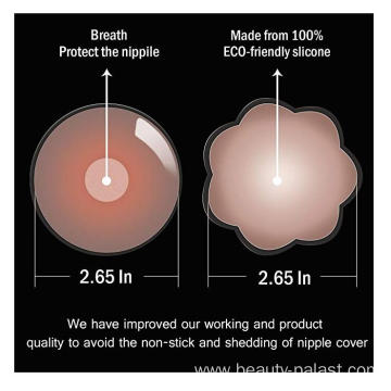 Adhesive nipple covers for women