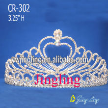 Factory Promotional for Wedding Rhinestone Tiaras Heart Pearl Crowns Princess Pageant Tiaras export to Iraq Factory