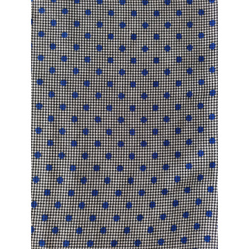 Houndstooth&Dots Rayon Twill 3024S Printing Woven Fabric