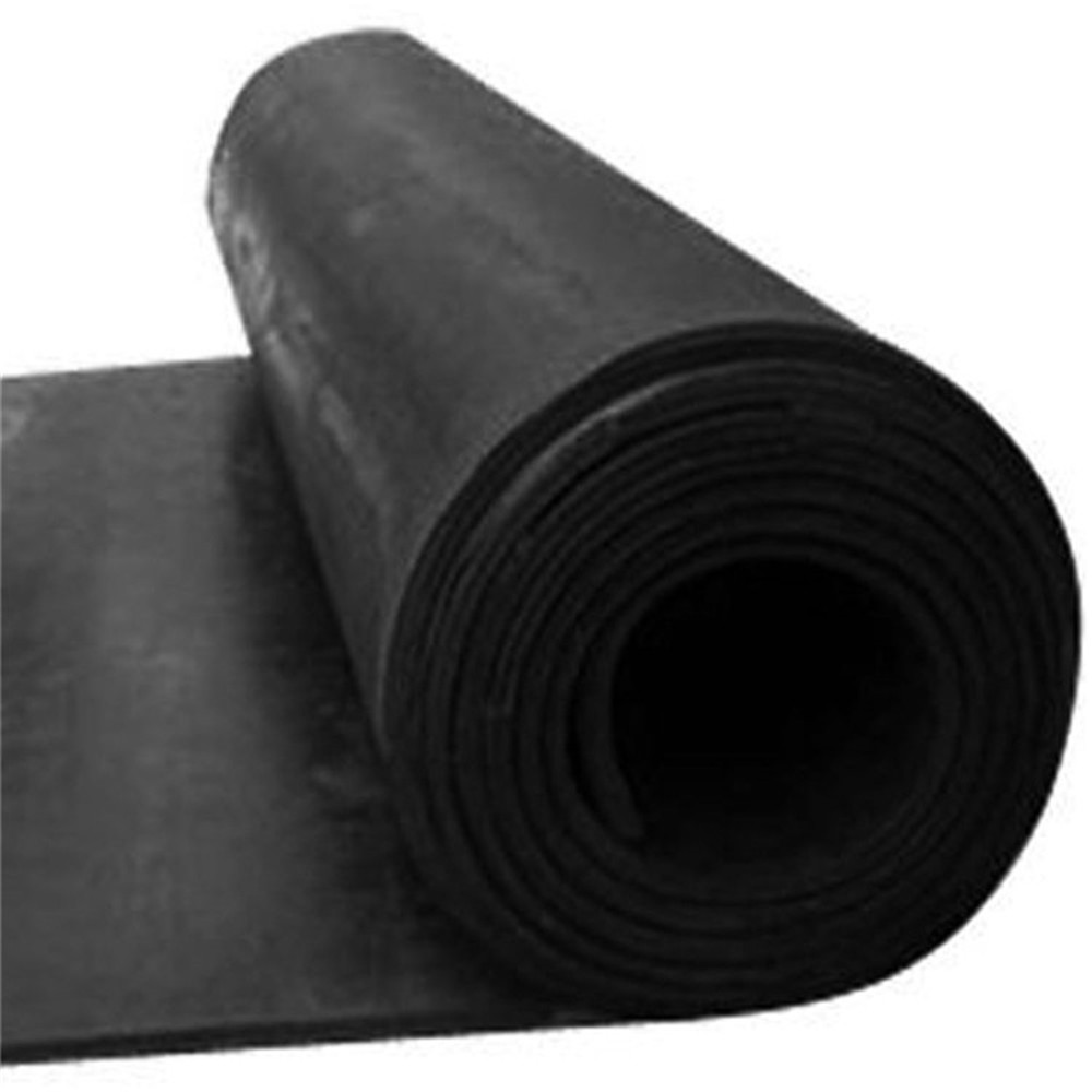 black rubber flooring roll