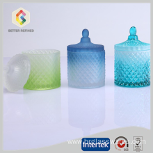 Factory made hot-sale for China Candle Jars, Glass Candle Jars, Candle Tins, Candle Jars With Lids, Glass Candle Jar Manufacturer New design beautiful crystal candle jars with lids export to Djibouti Manufacturers