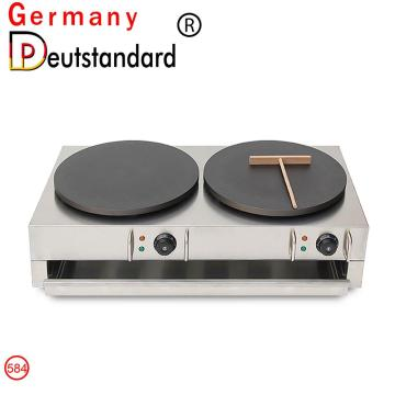 commercial electric double head crepe maker with CE