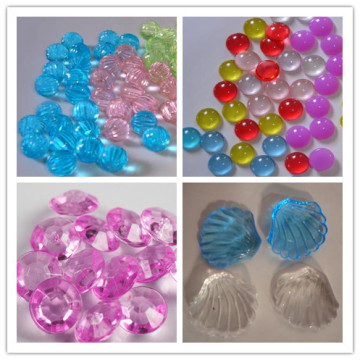 Beauty colorful acrylic beads for aquarium decoration