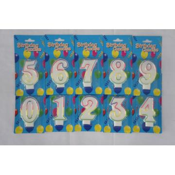Factory Promotional Number Shape Birthday Candles