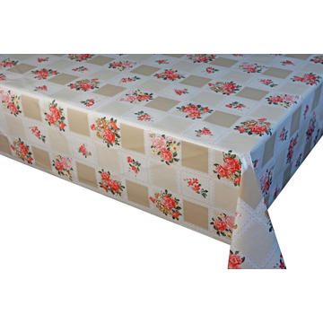 Pvc Printed fitted table covers A Table Linen