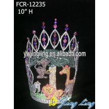 Fashionable Crown Lady Rhinestone Animals Tiara