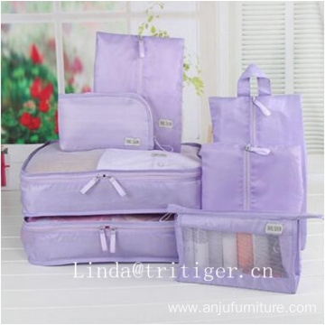 Elegant 7 in 1 Travel luggage organizer packbag bag set