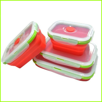 Professional High Quality for Silicone Folding Lunch Box Stackable Food Storage Silicone Lunch Box Food Container supply to Switzerland Factory