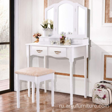 Vanity mirrored dresser table