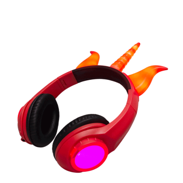 New fashion wired oem light up devil headphone