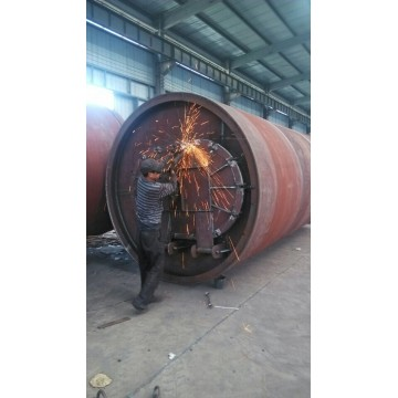 waste tire pyrolysised to fuel machine
