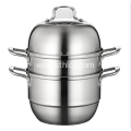 Three Layers Single Bottom Stainless Steel Steamer Pot