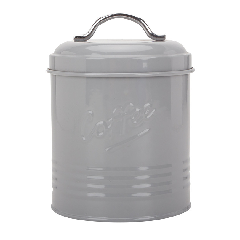 Embossed Metal Kitchen Canister