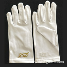 factory customized for Masonic Embroidery Nylon Gloves Royal Arch Dress Masonic Gloves export to Nauru Wholesale