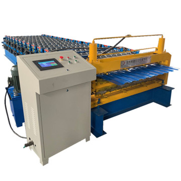 Zinc roof panel double roll forming machine