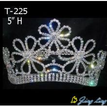 Hot sale pageant Crown Flower Shape