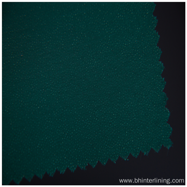 Shrink-Resistant green double dot woven fusing interlining
