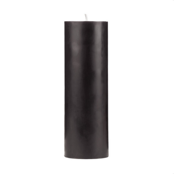 Black color magic pillar candles