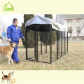Square tube dog kennel with waterproof cover