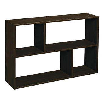 Off-set Mini Organizer Espresso Wooden Corner Wall Mount Shef Cube Wall Shelf