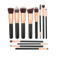 12Pieces Goat Hair Wood Handle Makeup Brushes Sets
