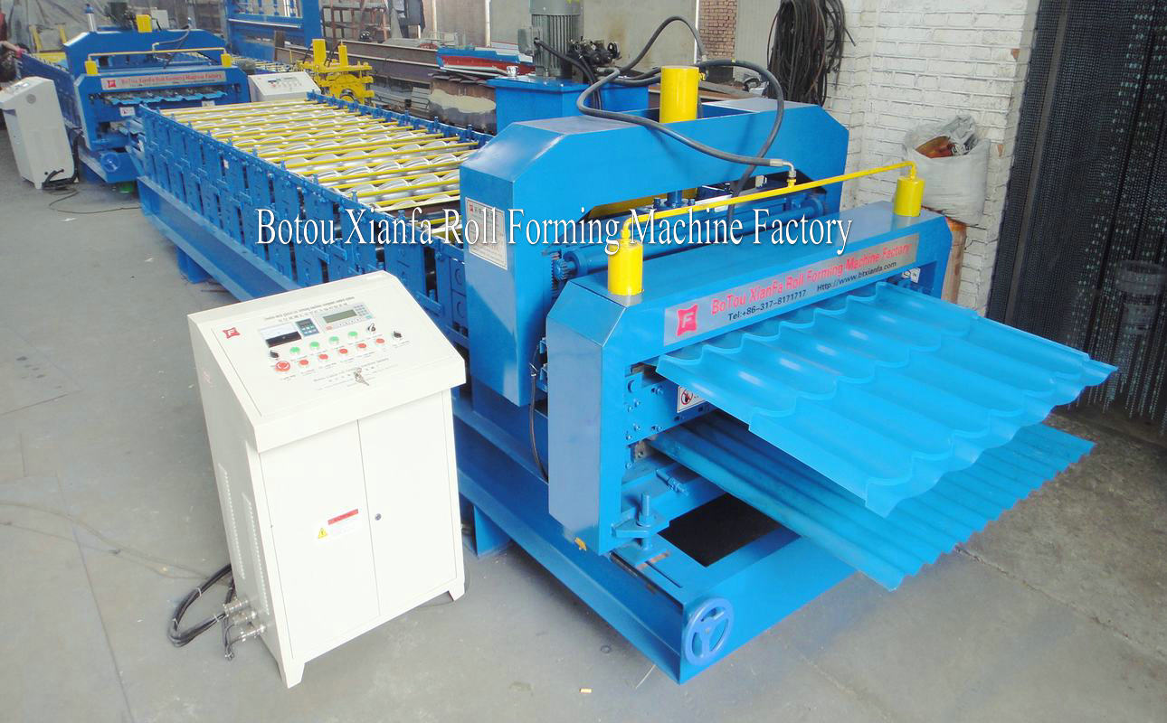 glazed and wave forming machine