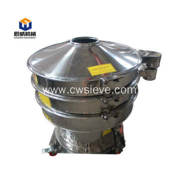 Fully enclosed vibrating sifter for grain