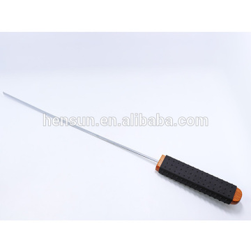 Non-slip Rubber Plastic Handle BBQ Meat Stick