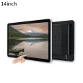 Black 14 inch touch screen monitor
