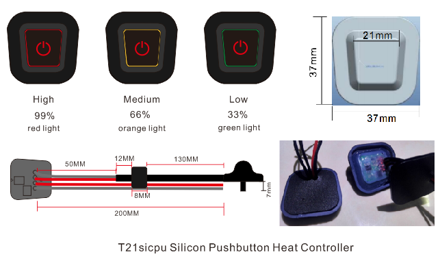 T21sicpu silicon pushbutton heat controller