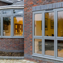 aluminium windows and doors triple glaze windows burglar proof window