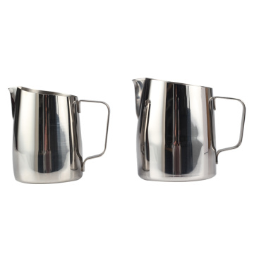 Stainless Steel Milk Frothing Pitcher with Measurements