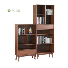 Solid Wood Book Shelf Cabinet with Drawer