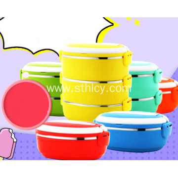 Double Stainless Steel Sealed Colors Food Container