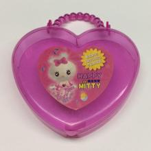 Plastic heart shaped portable gift box